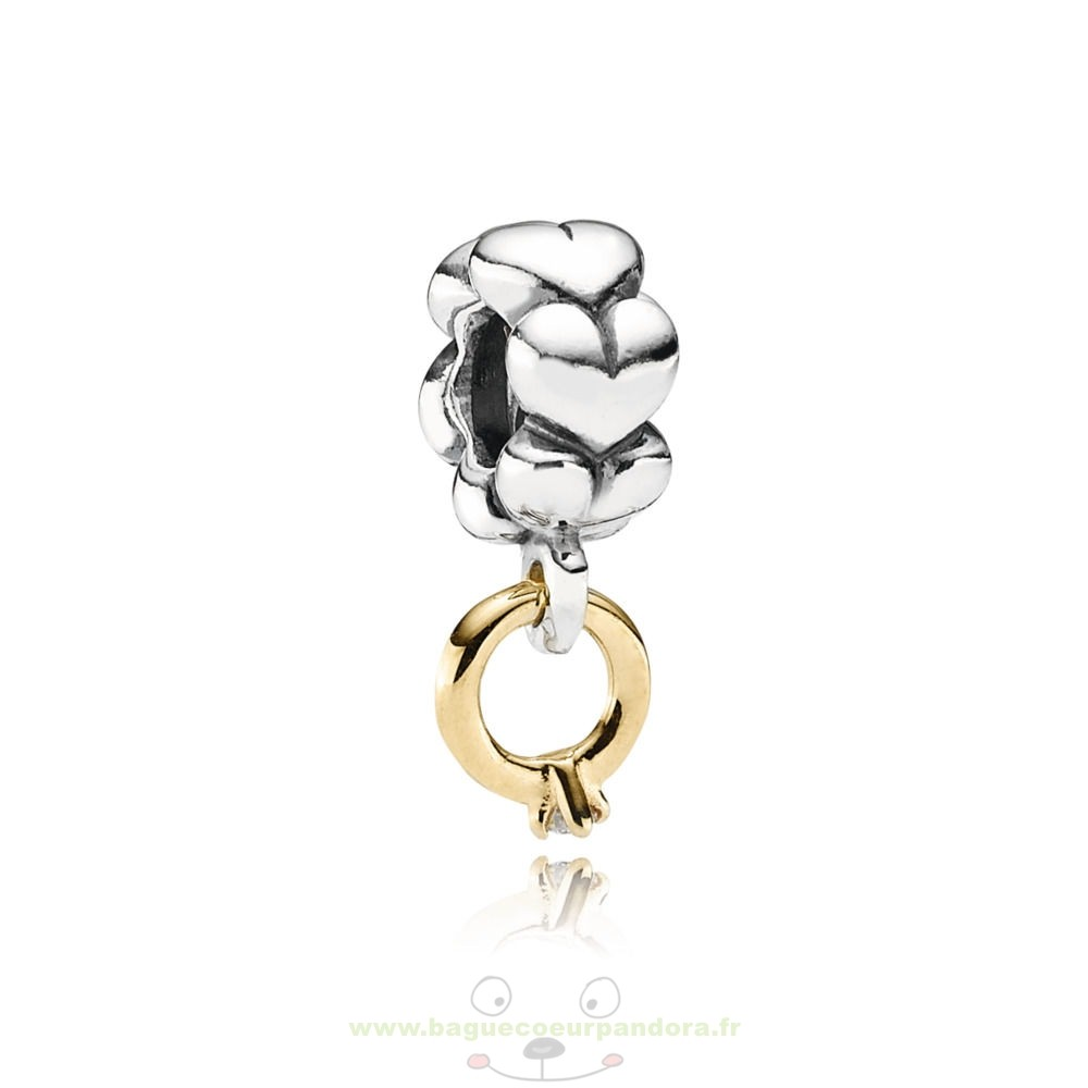 Accessoires Bijoux Pandora Solitaire, Ring Silver Dangle With 14K 0.02Ct Diamond