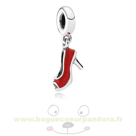 Accessoires Bijoux Pandora Pandora Passions Charms Chic Breloque Glamour Red Stiletto Red Enamel