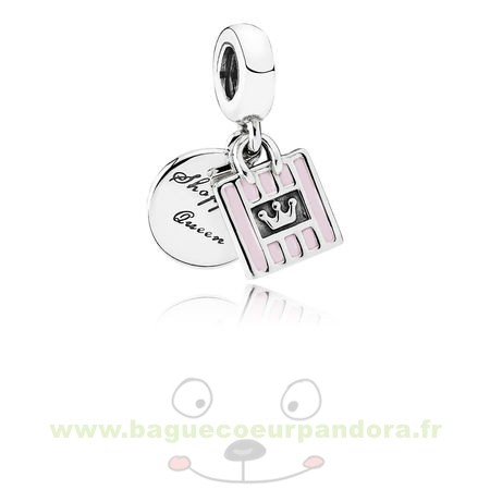 Accessoires Bijoux Pandora Pandora Passions Charms Chic Glamour Achats Queen Dangle Charm Soft Rose Email