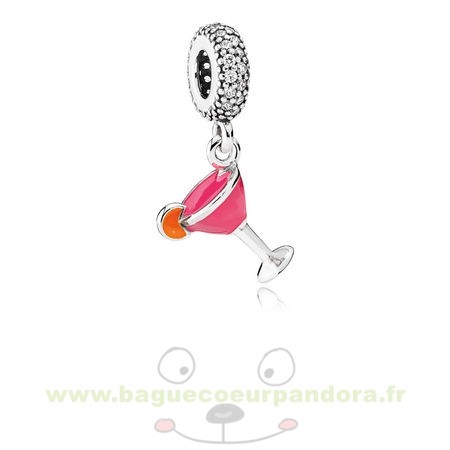 Accessoires Bijoux Pandora Pandora Passions Charms Chic Glamour Fruite Cocktail Charm Mixed Email Clear Cz